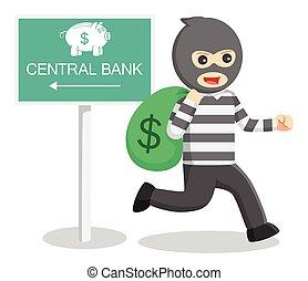 Bank thief illustration