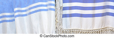 Tallit abstract background texture - Tallit, a fringed...