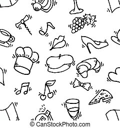 Paris symbols pattern