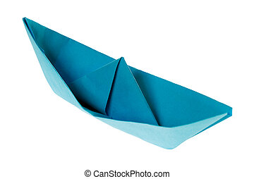 Paper Boat isolated over a white background