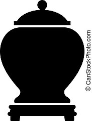 Urn for ashes, shade picture