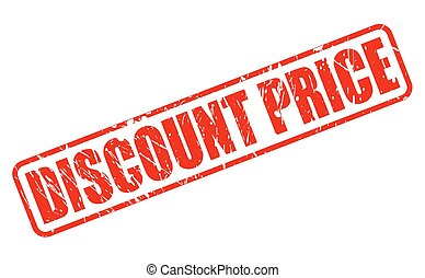 DISCOUNT PRICE RED STAMP TEXT