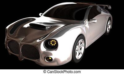 loop luxury brandless sport car - rendered in PNG with alpha...