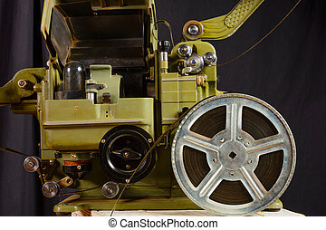 photo of part old movie projector