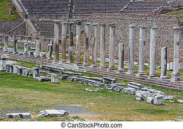 Sanctuary of Asclepius, Pergamon, Bergama, Izmir Province,...