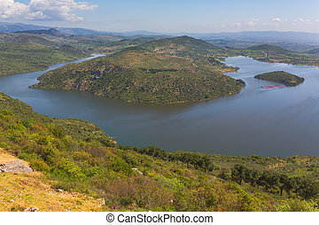 Dam lake valley of Ketios river Bergama Izmir Province...