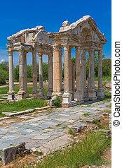 Tetrapylon ruins of ancient Aphrodisias Turkey - Tetrapylon...