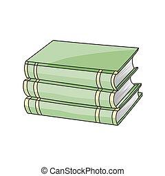 Books set isolated on white background
