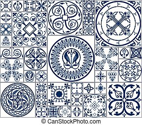 Moroccan tiles Seamless Pattern
