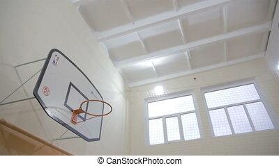 basketball hoop on hall