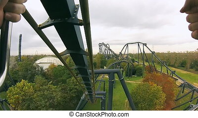 Speed rides in amusement park - Speed rides, amusement park...