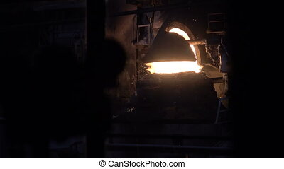 Purging metal oxygen converter 9 - Stages of the steel plant...