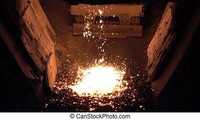 Drops of molten iron