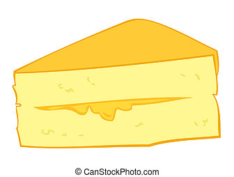 Custard cream cake slice.