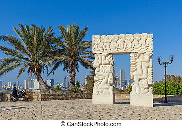 Statue of Faith in Old Jaffa. - Statue of Faith as Tel Aviv...