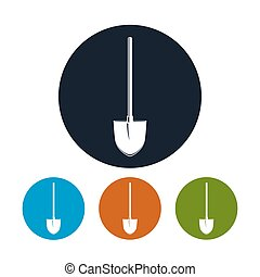 Shovel Icon ,Garden Equipment - Shovel Icon, Four Types of...