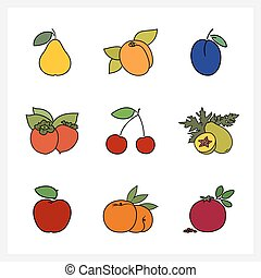 Fruit Growing on a Trees - Fruit and Berry,Fruit Growing on...