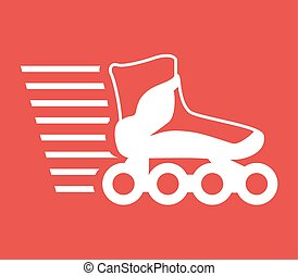 speed roller skate icon - Creative design of speed roller...