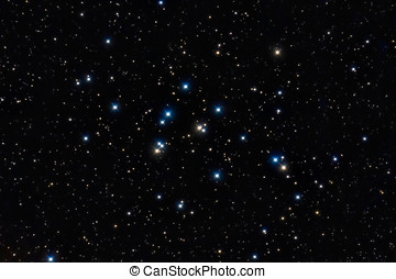 M44 cluster, Colorful stars in the night sky - Colorful...