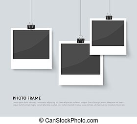 Background with old style photo frames