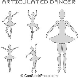 articulated dancer illustration - Creative design of...