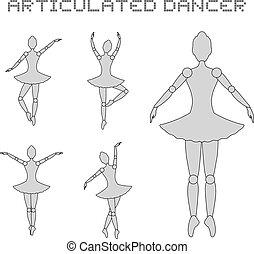 articulated dancer illustration - Creative design of...