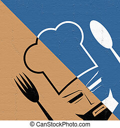imaginative chef symbol - Creative design of imaginative...