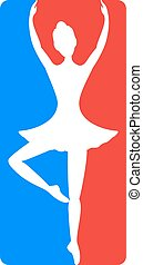 imaginative dancer girl icon - Creative design of...