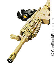 carbine - Picture of isolated gun with white background.