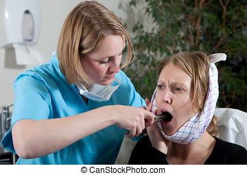 Pulling a teeth