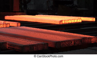 Cools the workpiece after rolling 4 - Stages of the steel...