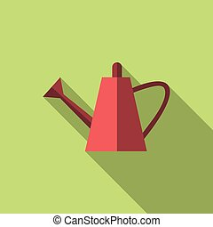 Watering can, long shadow