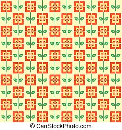 Retro flowers - A seamless pattern of retro style flowers,...