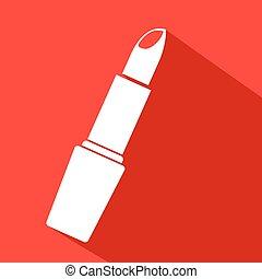 red lipstick icon - Creative design of red lipstick icon