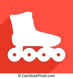 roller skate flat icon - Creative design of roller skate...