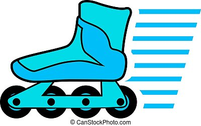 roller skate illustration - Creative design of roller skate...