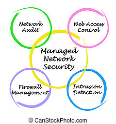Diagram of Managed Network Security
