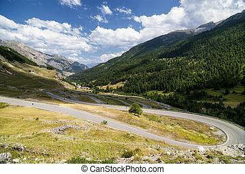 Colle della Maddalena Piedmont, Italy, mountain landscape at...