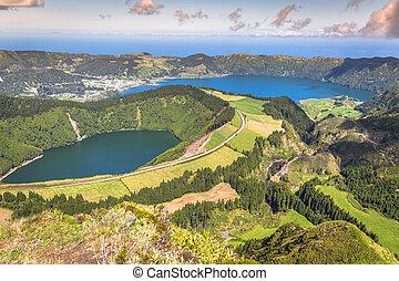 Sete Cidades Lagoa Ponta Delgada AZORES Sete Cidades is a...