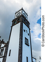 Tower of St Sebastian church Igreja Matriz de Sao Sebastiao...