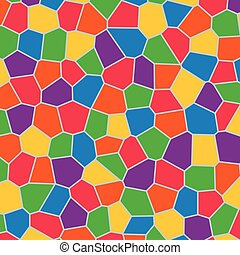 full color irregular baby polygon mosaic pattern background...