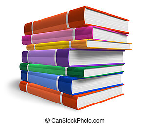 Stack of color books