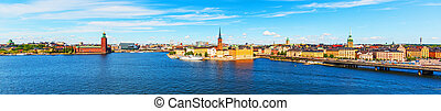 Panorama of the Old Town of Stockholm, Sweden - Scenic...