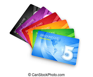 Set of discount cards  - Set of discount cards