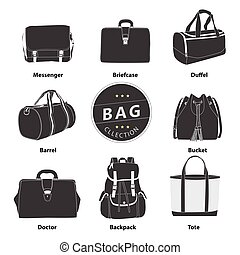 Bags collection set - Collection bags Illustration vector...