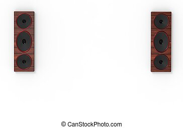 Two speaker isolated on white background