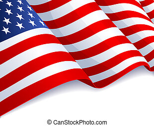 USA flag in white background