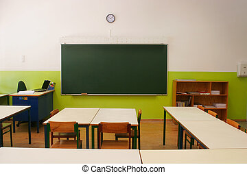empty classroom - Vision of the empty classroom