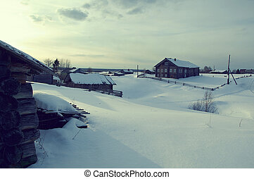 Russian village Pinega District Arhangelsk region Russia