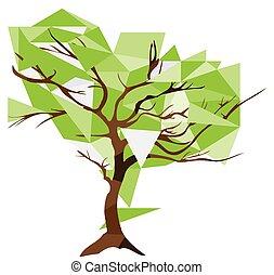 diamond christal tree - vector diamond geometrical tree